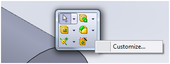 Customizing SolidWorks Flyout Toolbars