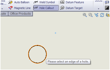 SolidWorks Hole Callouts for Hole Wizard Holes on Cylindrical Faces