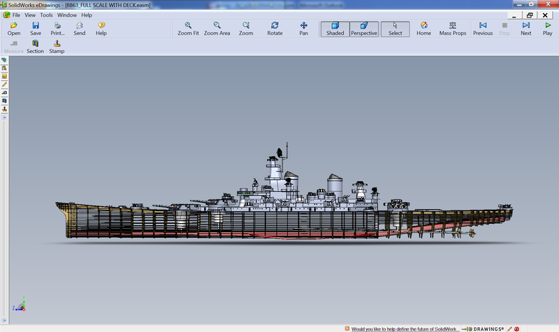 USS Missouri Modeled in SolidWorks eDrawings 1