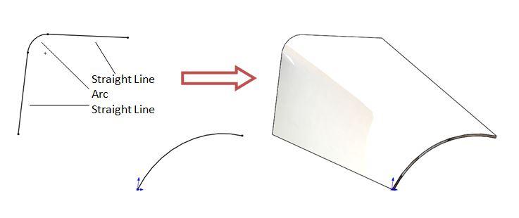 Breaking a sheet metal loft so it shows bend lines