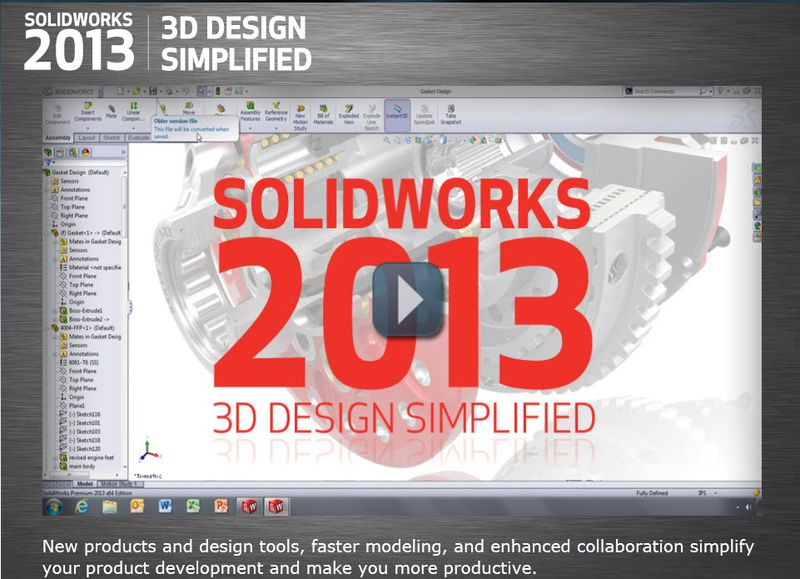 SolidWorks 2013 has arrived
