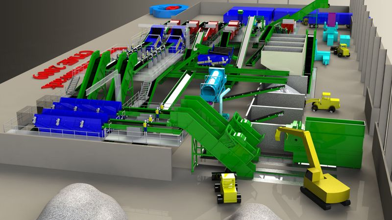 CP Manufacturing waste management and recycling plants designed in SolidWorks