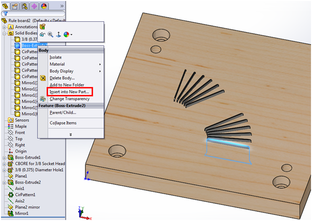 Creating Drawings for SolidWorks Multi-body Parts