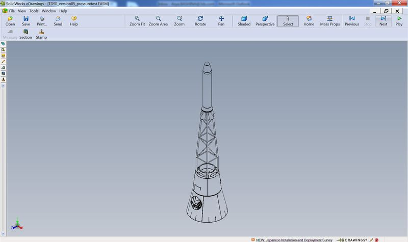 Copenhagen Suborbitals capsule designed in SolidWorks and portrayed in eDrawings