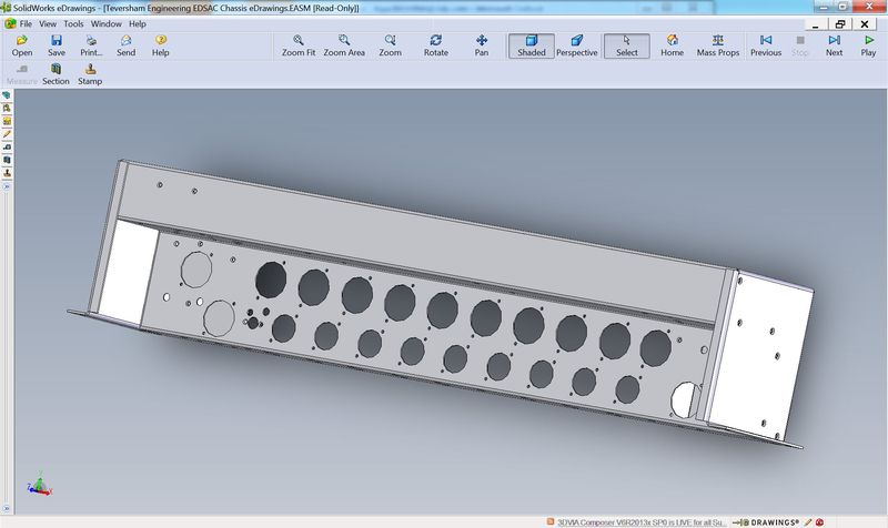 Teversham EDSAC Chassis in SolidWorks eDrawings