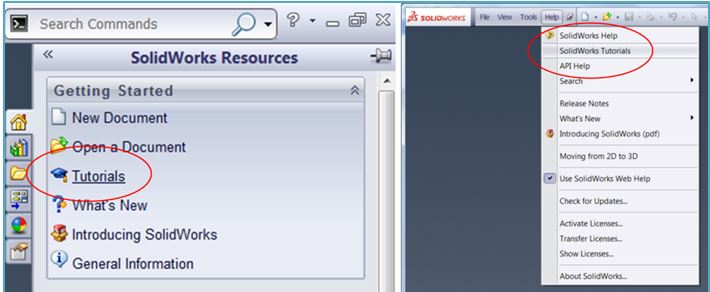 Learn More About SolidWorks Using the Built-in Tutorials
