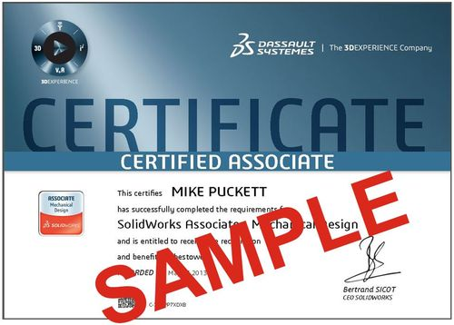 Overlaid Logo and Cert