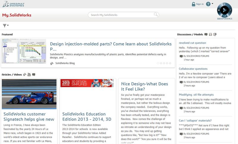 Check out the new features available on My SolidWorks com