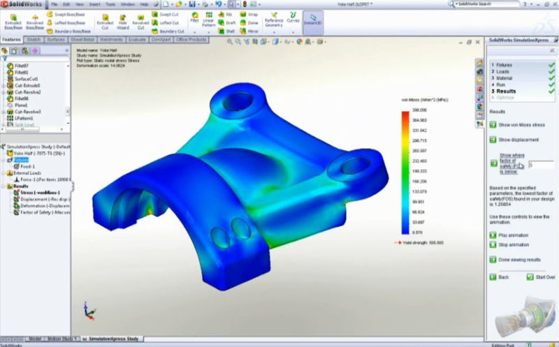 Part Simulation in SolidWorks