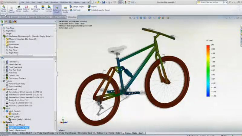 Bike simulation in SolidWorks