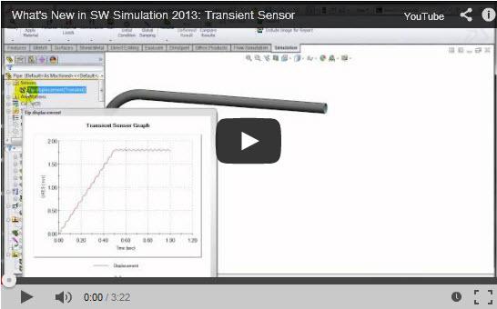SolidWorks Simulation: Transient Sensors