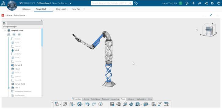 Estudantes experimentam a plataforma 3DEXPERIENCE