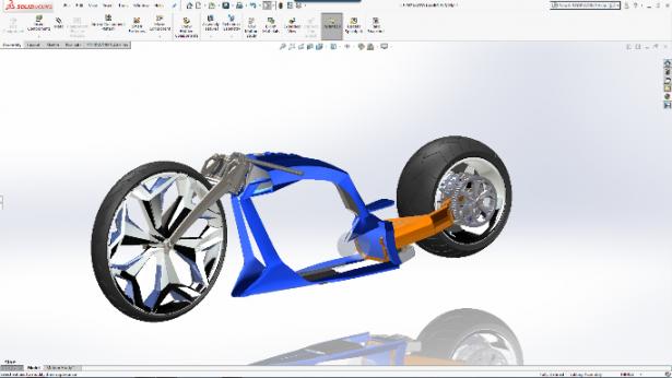 Modelo de Motocicleta Modelada com SolidWorks