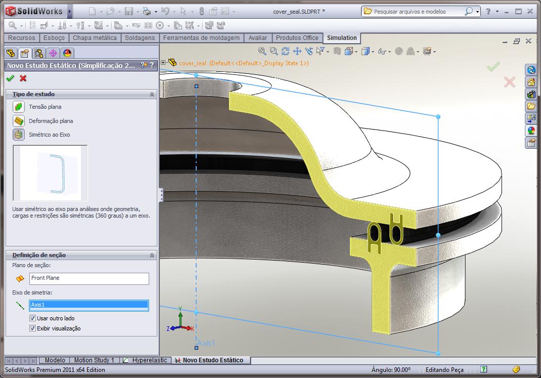 Desvendando a Simulação Plana em 2D no SolidWorks 2011