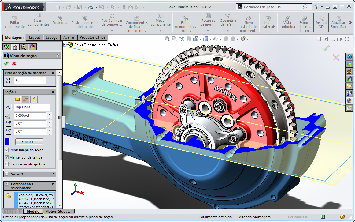 Novo no SolidWorks 2014: Aprimoramentos na Vista de Seção