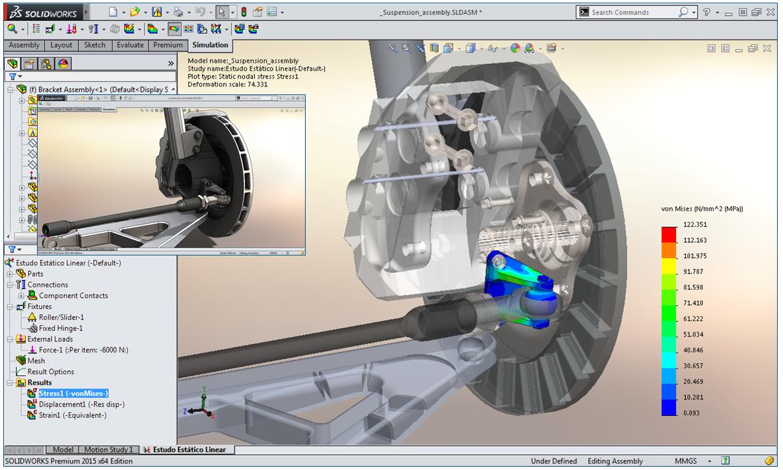SOLIDWORKS Simulation Standard: Preveja o Desempenho do Produto Mais Cedo com um Simulador Acessível