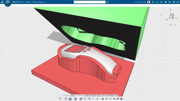 Projeto de molde 3D na nuvem