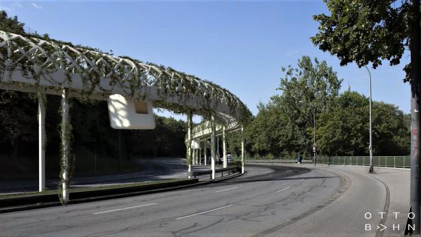 Cityintegrierte emmissionsfreie Gondel für grüne Mobilität