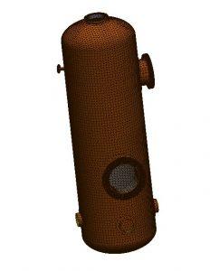 Abb. 2: Druckbehälter - Gemischte Vernetzung