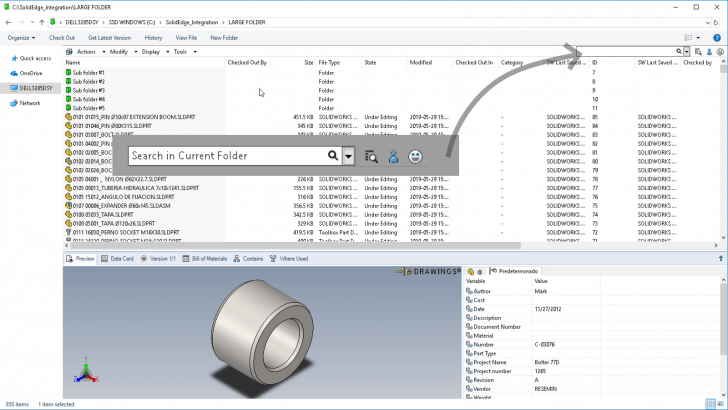 Neue Funktionen in SOLIDWORKS PDM 2020