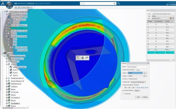 SIMULIAworks FEM: Verschiebung aufgrund der elastischen Freisetzung der Durchmesserreduktionsphase