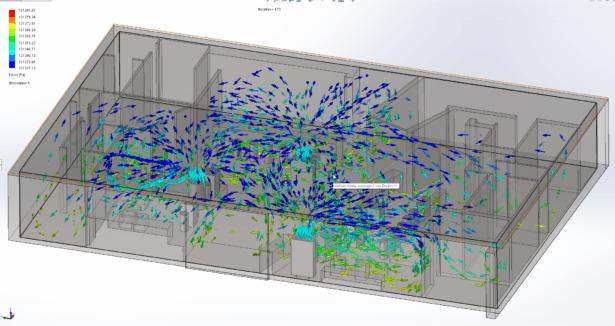 Strömungsanalyse für den VITAPOINT Luftreiniger von XTRACTION