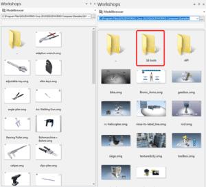 Bild Modellbrowser & Ordner 3d tools