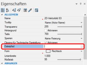 Dateipfad 2D-Vektorbild angeben