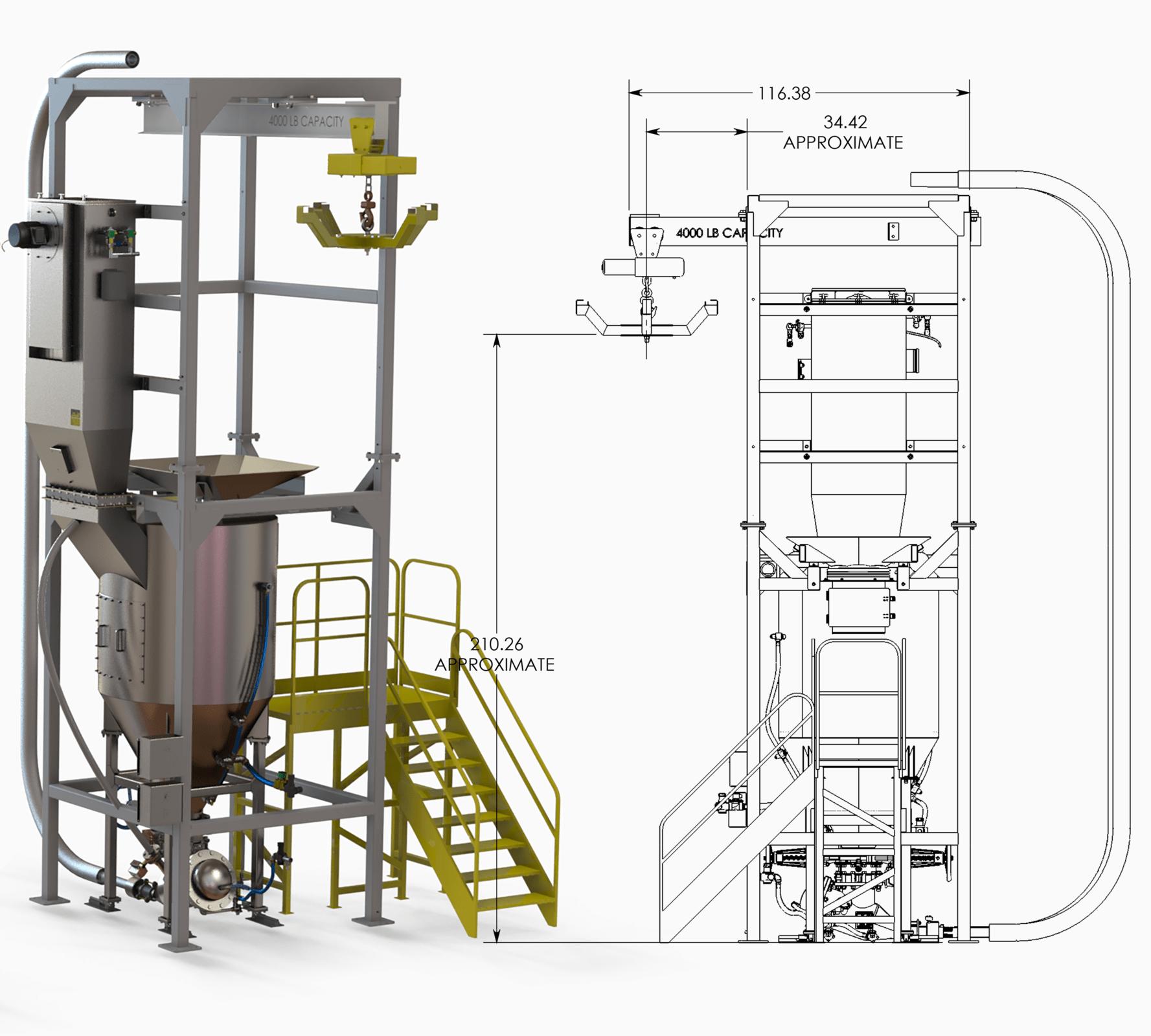 3D-Modell mit entsprechender 2D-Zeichnung