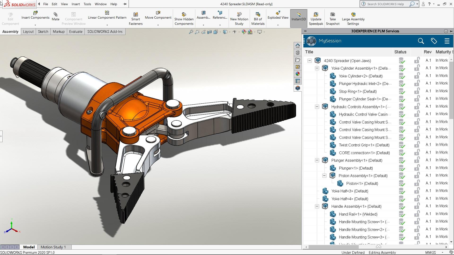 Speichern einer Verteiler-Baugruppe und von Teilen auf der 3DEXPERIENCE Plattform direkt von SOLIDWORKS aus.