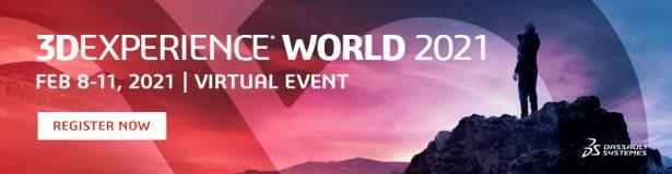 3DEXPERIENCE World 2021 - Jetzt kostenlos registrieren!
