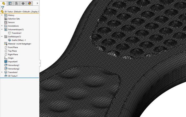 Erstellen einer 3D-Textur in SOLIDWORKS