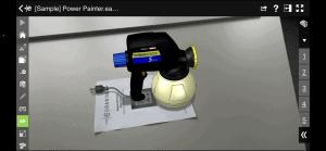 Modell geladen und AR Funktion