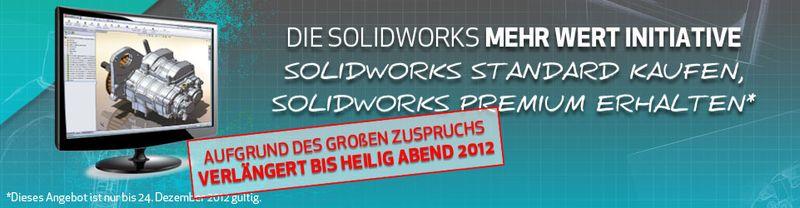 SolidWorks Mehr Wert Initiative – Premium statt Standard – Bis Heiligabend verlängert!