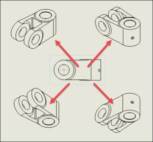 Benutzerdefinierte Isometrische Ansicht auf Zeichnungen