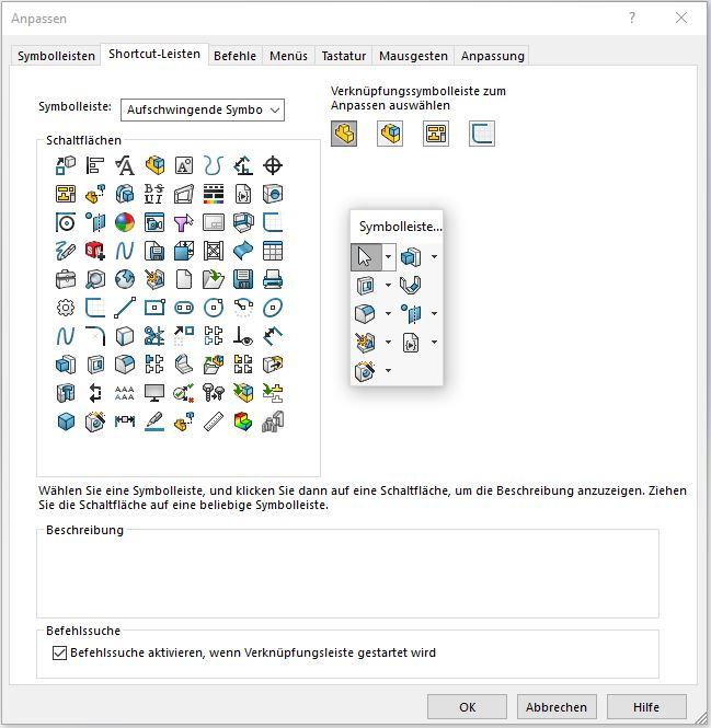 [Technik-Tipp] Aufschwingende Symbolleisten erstellen in SOLIDWORKS