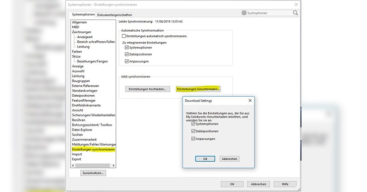 Video Tutorial: SOLIDWORKS Anwendereinstellungen synchronisieren