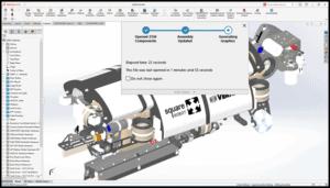 Bildschirmfoto von neuen Optionen der Baugruppenmodellierung
