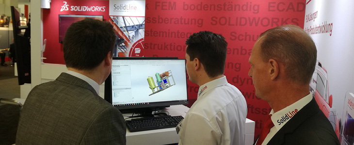 Live-Vorführung Smap3D auf der ACHEMA 2018 in Frankfurt