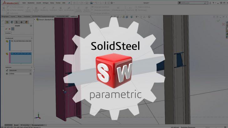 Stahlbaukonstruktion zu 100% in SOLIDWORKS integriert