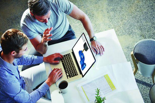 Unternehmenswachstum skizzieren mit Technologie