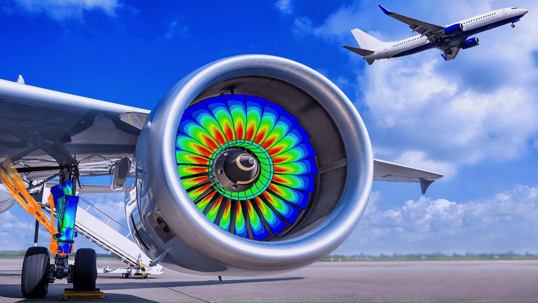 Simulation einer Turbine mit Wärmeströmungen