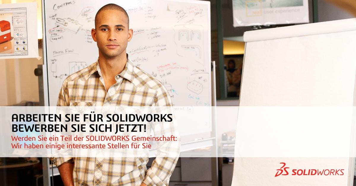 Interessanter Job rund um SOLIDWORKS gesucht? Jetzt bewerben!