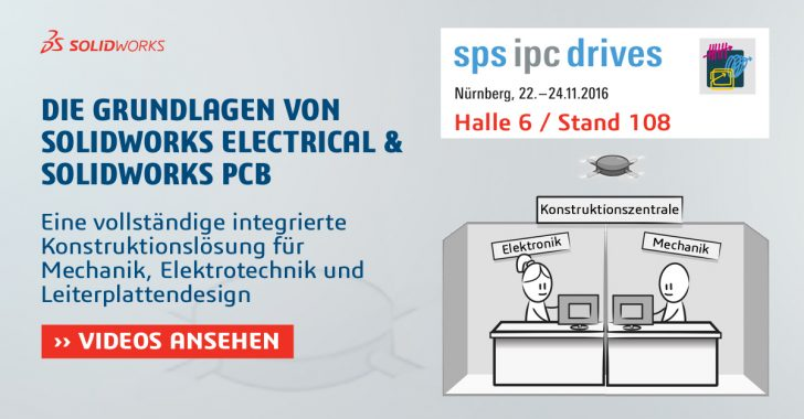 SOLIDWORKS Electrical & PCB auf der SPS IPC Drives 2016
