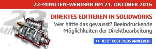 22-MINUTEN-WEBINAR: Direktes Editieren in SOLIDWORKS