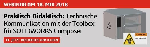 Webinar: Praktisch Didaktisch – Technische Kommunikation mit der Toolbox für SOLIDWORKS Composer