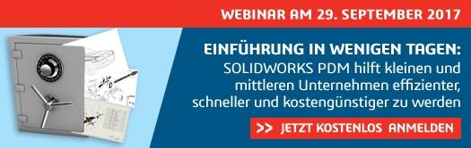 LIVE-WEBINAR: Einführung von SOLIDWORKS PDM in wenigen Tagen