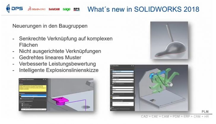 Video-Tipp! What's New in SOLIDWORKS 2018 – Neuerungen in Baugruppen