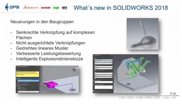 Video-Tipp! What's New in SOLIDWORKS 2018 – Neuerungen in Baugruppen