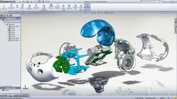 Hightech Roboter Entwicklung mit SOLIDWORKS